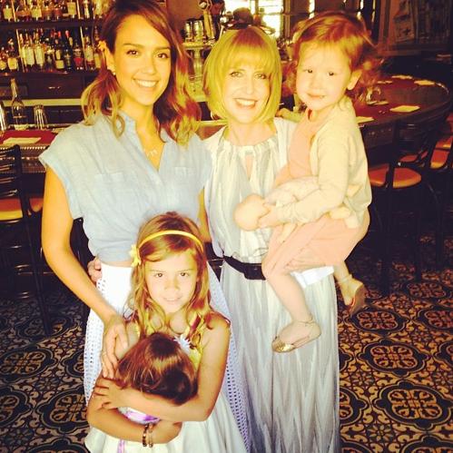 Jessica Alba en famille !