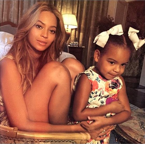 Beyoncé et Blue Ivy pendant leur voyage en Italie