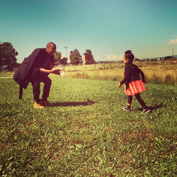 Jay-Z et Blue Ivy le 7 juin 2015