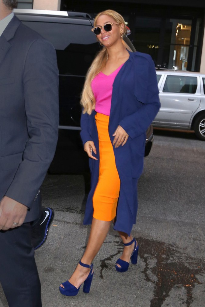 Beyoncé à New-York le 15 mai 2015