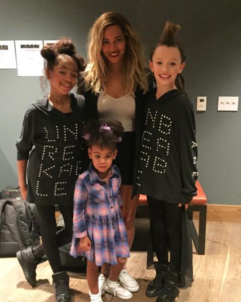Taylor Hatala, son amie danseuse, Blue Ivy et Beyoncé