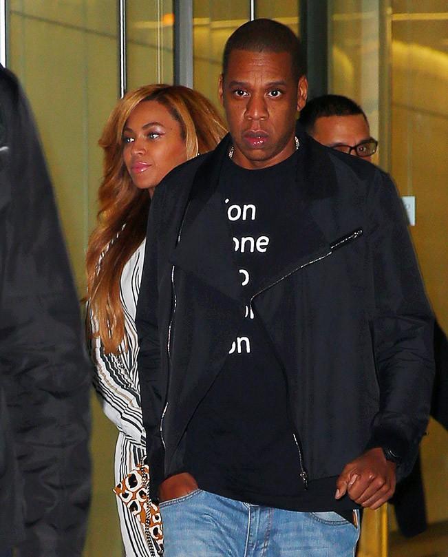 Beyoncé et Jay-Z à New-York le 29 octobre 2014
