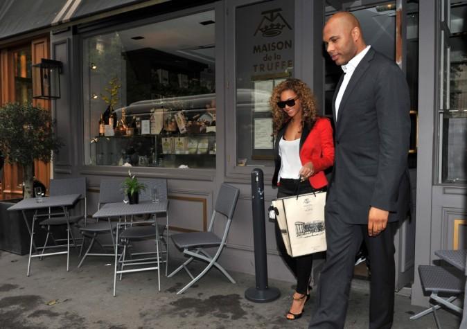 Beyonce sortant du restaurant La Maison de la Truffe à Paris, le 6 juin 2012.