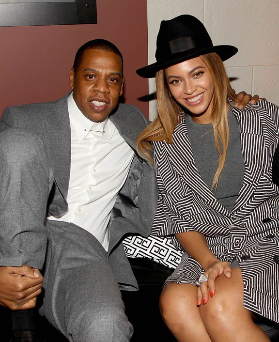 "Beyoncé et Jay-Z à l'after-party du film ""Annie"" à New-York le 7 décembre 2014"