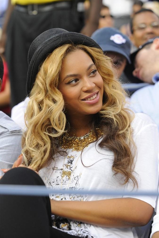 Beyonce lors de la finale de l'US Open à New York, le 12 septembre 2011.