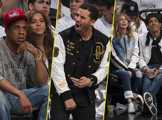Photos : Beyoncé, Jay-Z, Drake et Ellen Pompeo : un match 100% VIP au Barclays Center !