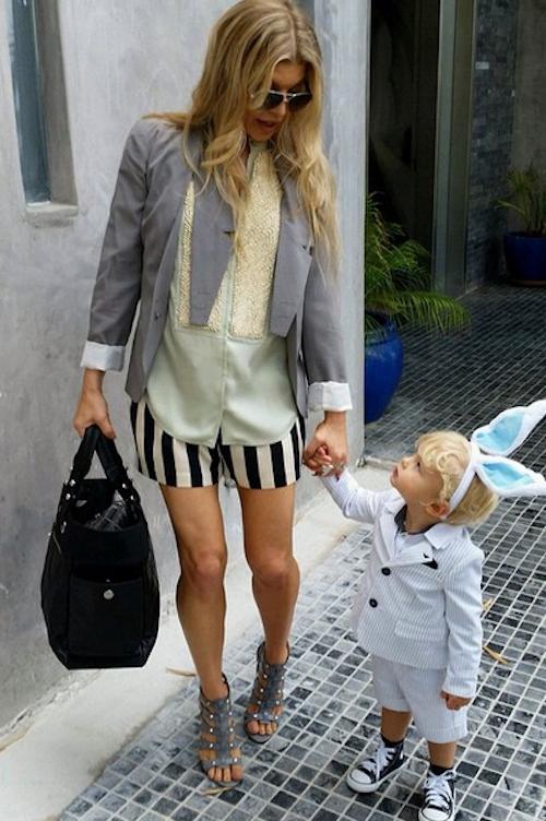 Fergie avec son fils, Axl