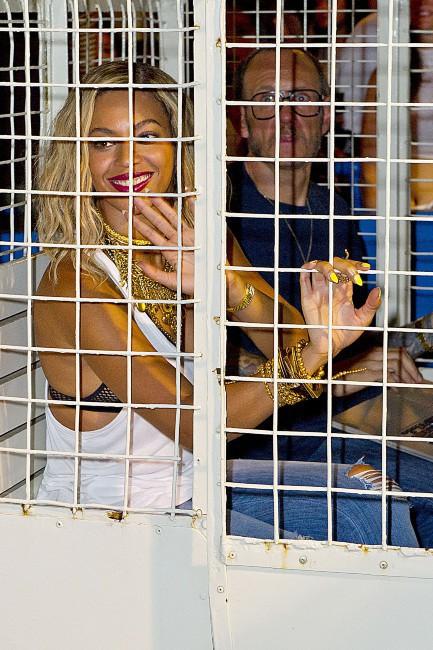 Beyoncé sur le tournage de son dernier clip à Coney Island, le 29 août 2013.
