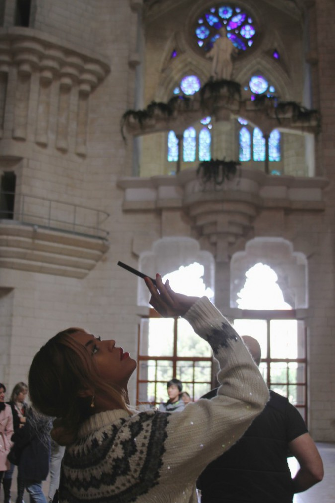Beyoncé visite la Sagrada Familia !