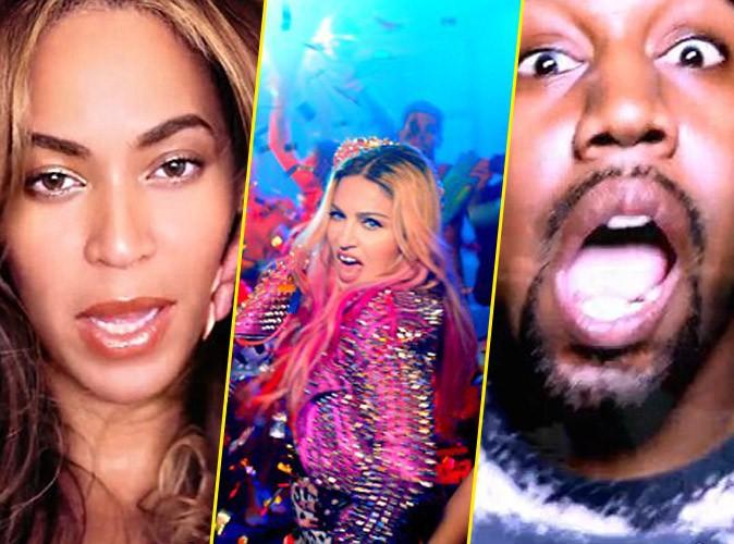 Beyoncé, Madonna et Kanye West