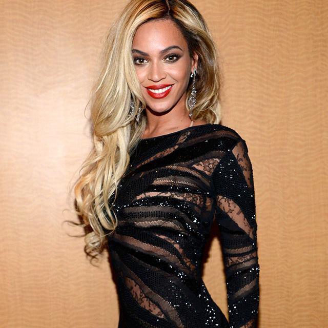 Beyoncé lors de la soirée DirecTV Super Saturday Night, le 1er février 2014.