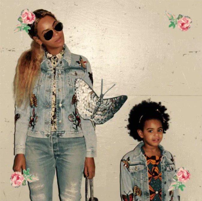 Beyoncé pose avec sa fille Blue