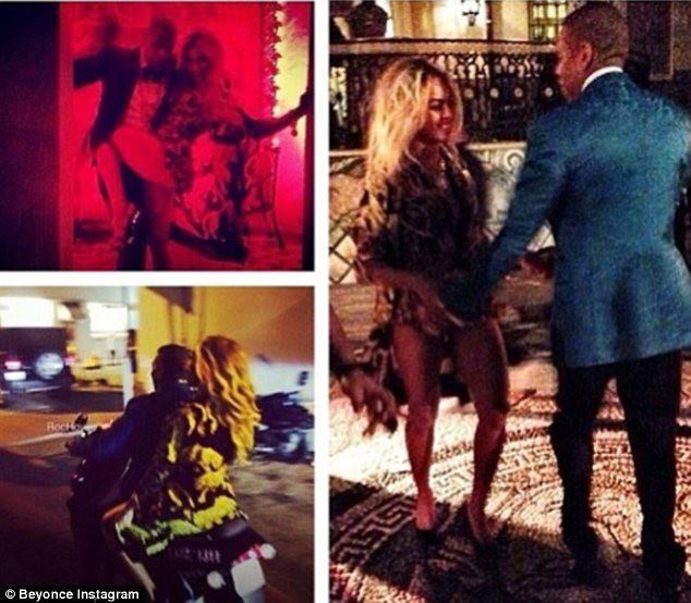 Beyoncé et Jay-Z lors du réveillon du nouvel an à Miami, le 31 décembre 2013.