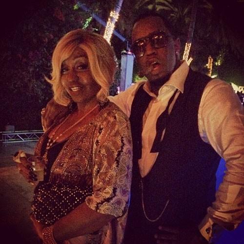 P. Diddy et sa maman lors du réveillon du nouvel an à Miami, le 31 décembre 2013.