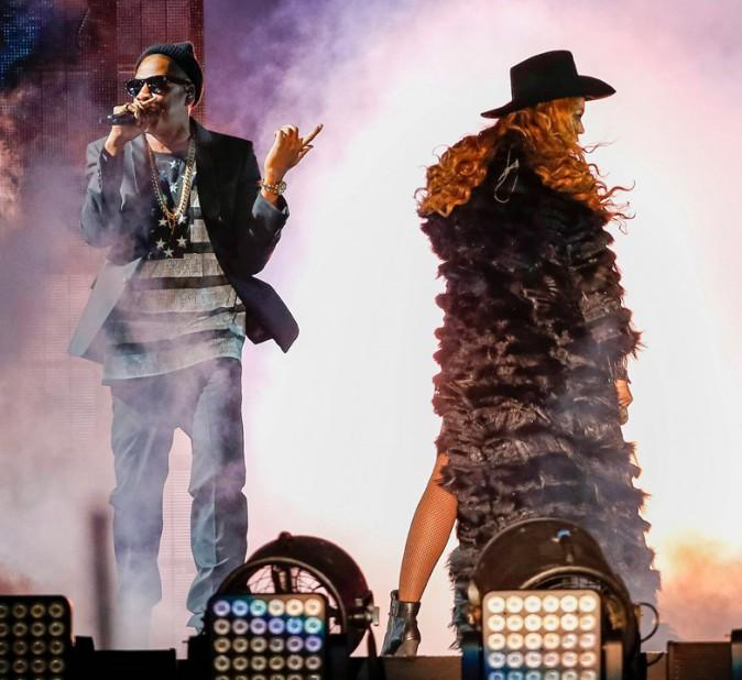 Beyoncé et Jay-Z en concert à Houston, Texas, le 18 juillet 2014
