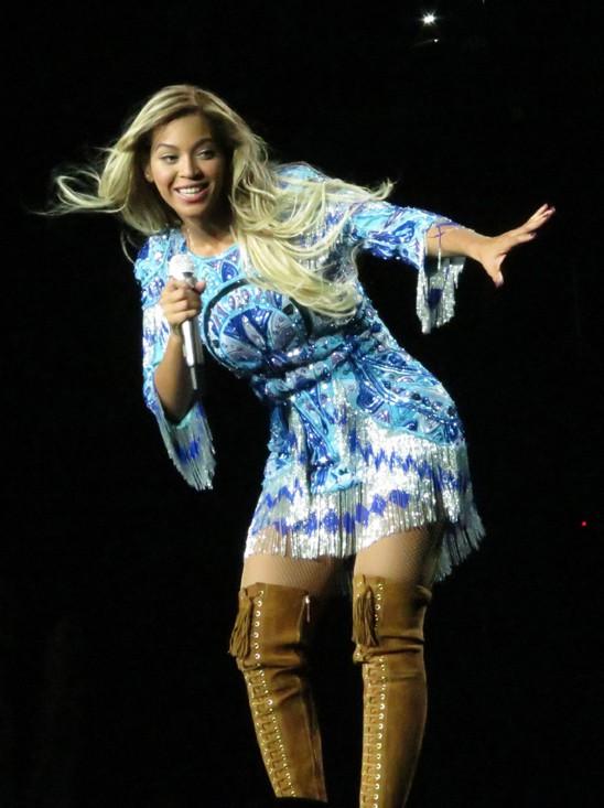 Beyoncé en concert à Glasgow le 20 février 2014
