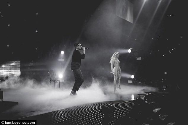 Beyoncé et Jay-Z en concert à Londres, le 4 mars 2014.