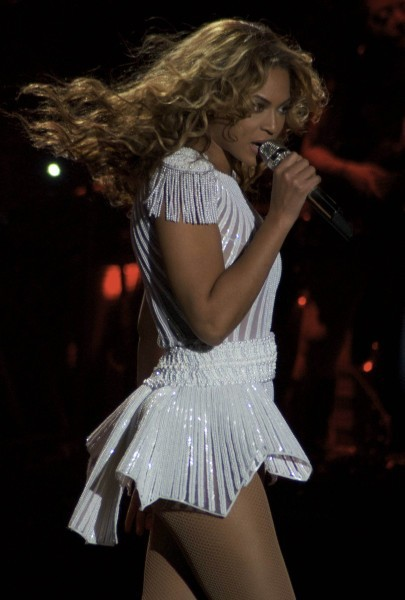 "Beyoncé en concert en Serbie avec son ""Mrs. Carter World Tour"", le 15 avril 2013."