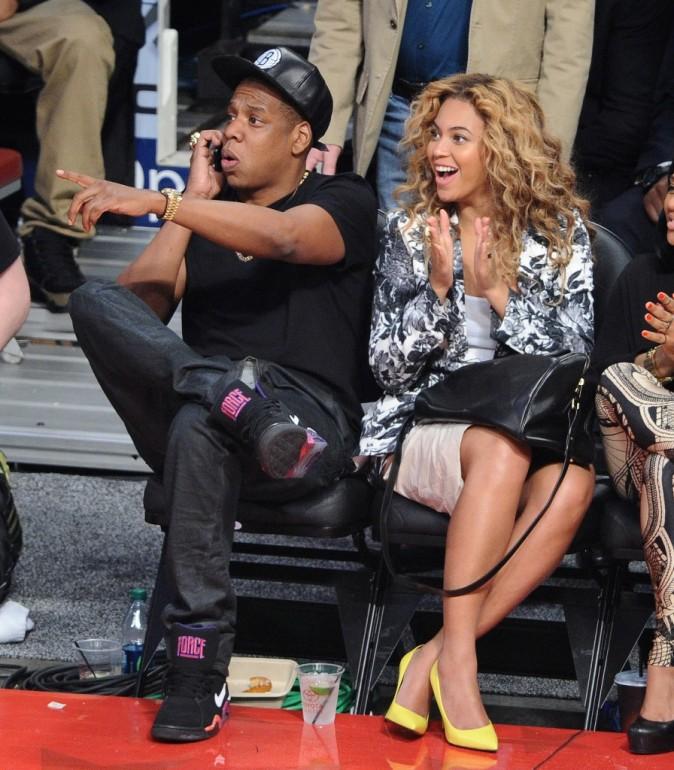 Beyoncé et Jay-Z lors du NBA All-Star Game au Texas, le 17 février 2013.
