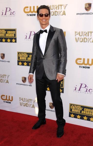 Matthew McConaughey lors de la cérémonie des Critics' Choice Awards à SantaMonica, le 16 janvier 2014.