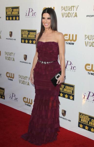 Sandra Bullock lors de la cérémonie des Critics' Choice Movie Awards à Santa Monica, le 16 janvier 2014.