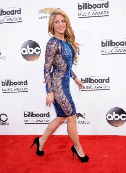 Shakira lors de la soirée des Billboard Awards à Las Vegas, le 18 mai 2014.