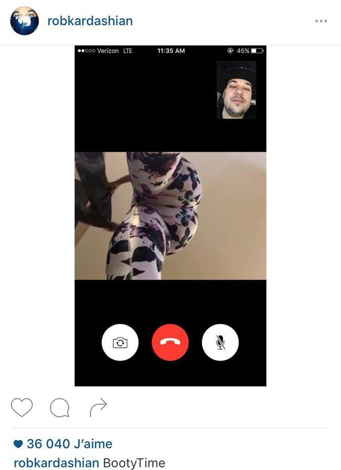 Rob Kardashian en FaceTime avec Blac Chyna