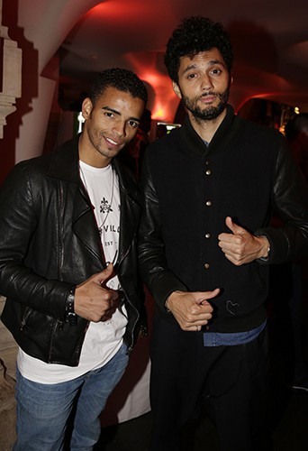 Brahim Zaibat et Tony Saint Laurent à Paris le 22 septembre 2014