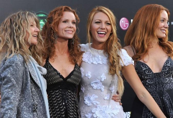 Avec sa mère et ses deux soeurs !