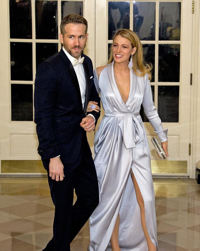 Blake Lively et Ryan Reynolds : classe pr�sidentielle � la Maison Blanche !