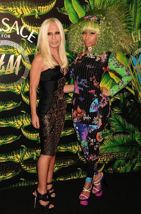 Donatella Versace avec Nicki Minaj