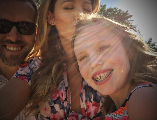 Blake Lively avec Ryan Reynolds et leur nièce Heather