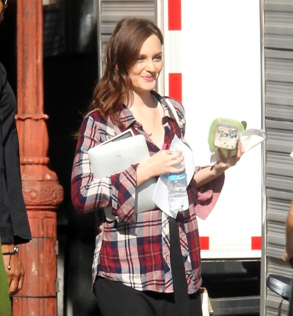 Leighton Meester sur le tournage de Gossip Girl à Brooklyn à New York, le 17 septembre 2012.