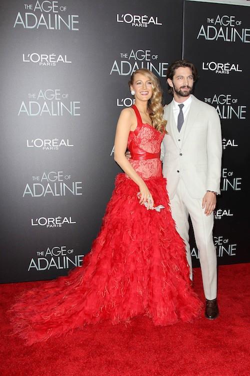 Blake Lively et Michiel Huisman, à la première du film Adeline à New York, le 20 avril 2015