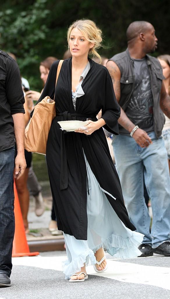 Blake Lively sur le tournage de Gossip Girl à New York, le 19 juillet 2012.