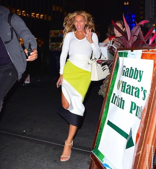 Beyoncé à New York, le 7 sepembre 2015