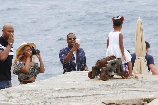 Beyoncé, Jay-Z et Blue Ivy le 16 septembre 2015