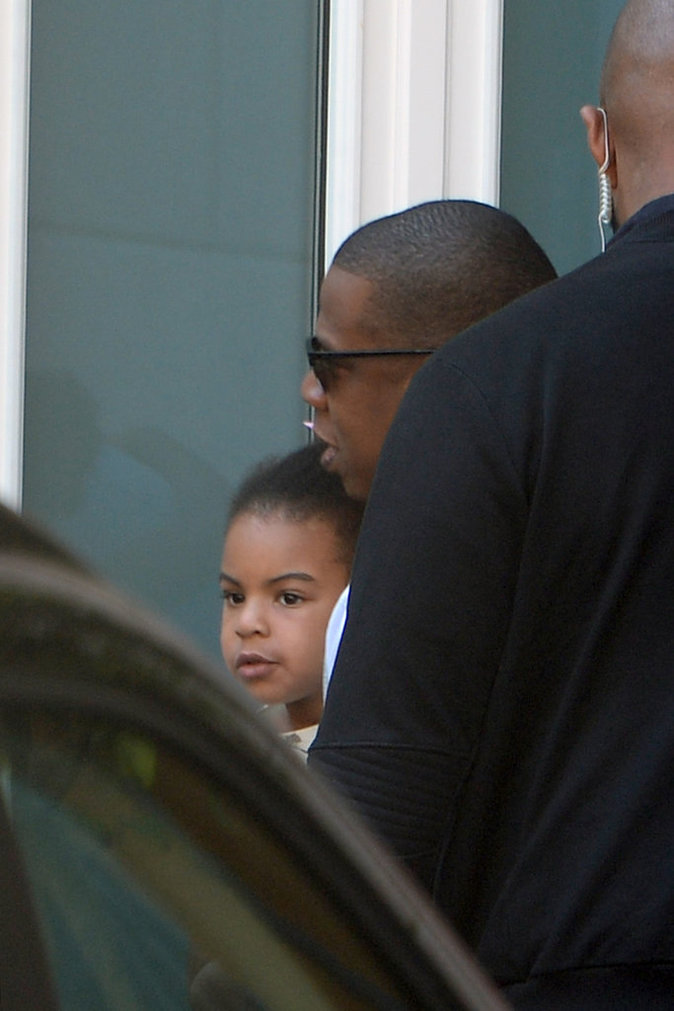 Beyoncé et Jay-Z à Milan avec leur fille Blue Ivy