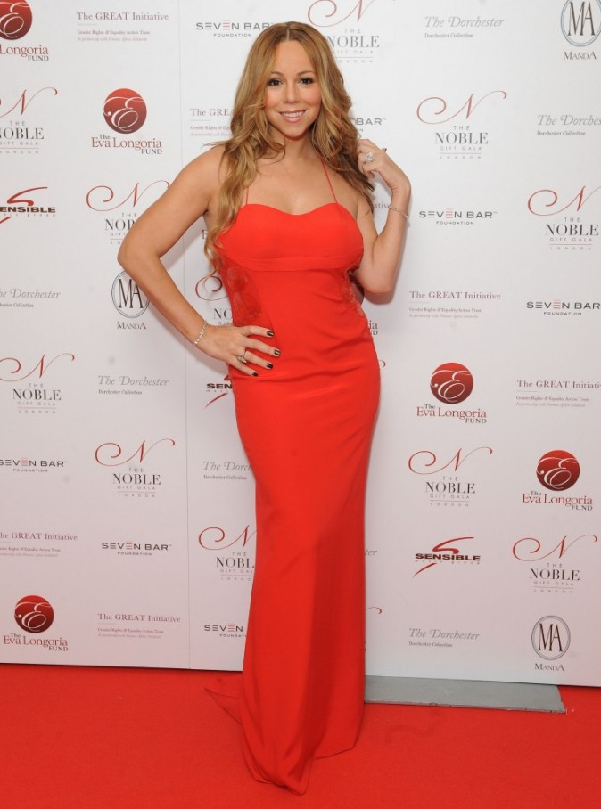 Mariah Carey aura encore quelques kilos à perdre début 2012, mais rappelons qu'elle a été maman en 2011...