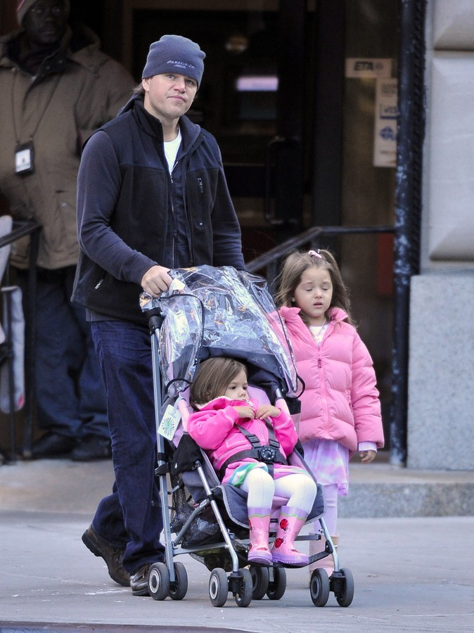 Matt Damon n'a que des filles dans sa vie