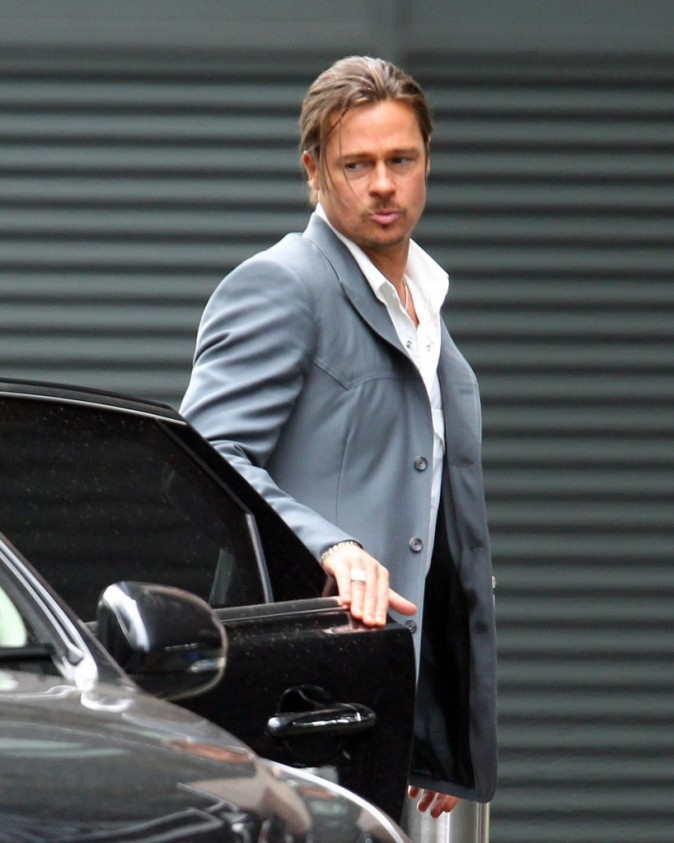 Brad Pitt, Londres, 4 août 2012.