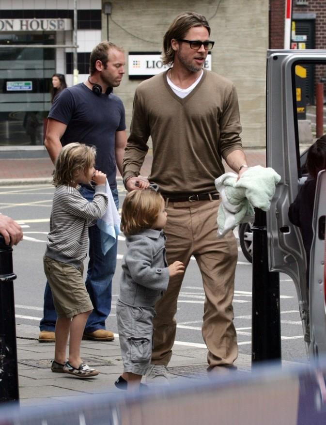 Brad Pitt, la classe à l'Anglaise !