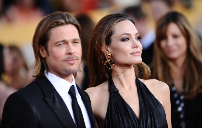 Brad Pitt et Angelina Jolie lors des Screen Actors Guild Awards à Los Angeles, le 29 janvier 2012.