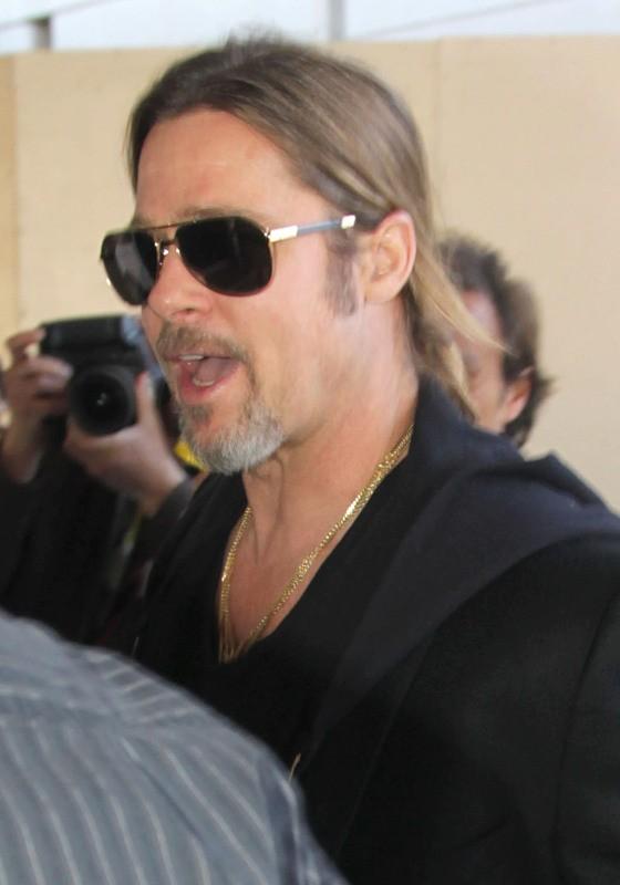 Brad Pitt à l'aéroport de Los Angeles