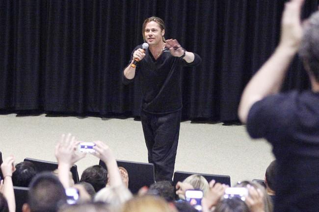 Brad Pitt en promo à Philadelphie, le 6 juin 2013.