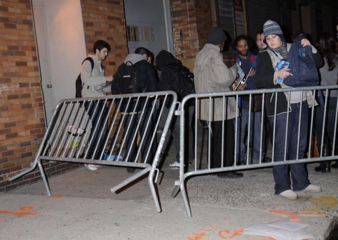 Brad Pitt crée l'émeute à New York, le 1er février 2012.