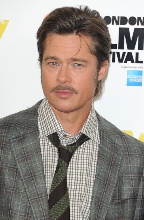 Brad Pitt en promo pour Fury, à Londres, le 19 octobre 2014