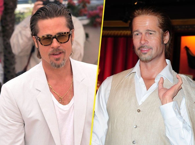 Brad Pitt et son double du musée Grévin !