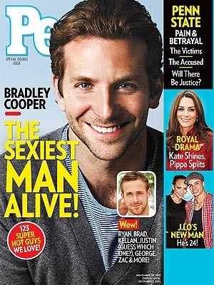 Bradley Cooper élu homme le plus sexy de la planète par People !