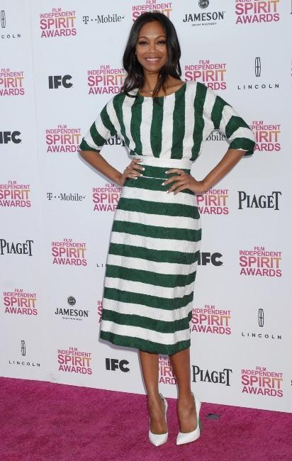 Zoe Saldana lors des Independent Spirit Awards